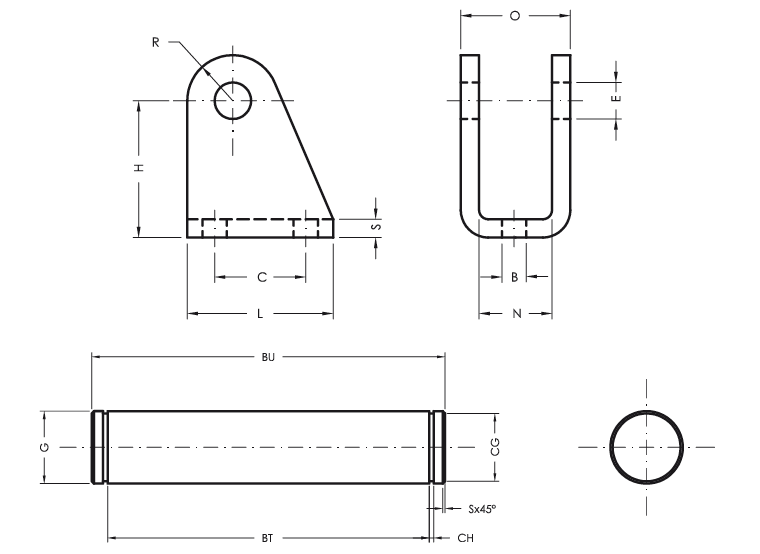 Front Female Hinge - Product structure